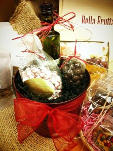 While Bella Frutta is known for its fresh fruits, vegetables, nuts and olive oil, gift baskets are available year round.