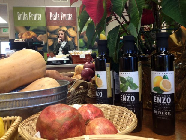 While Bella Frutta has sold fresh farm produce since the mid '40s, they now grow and bottle their own olive oil under the Enzo label.