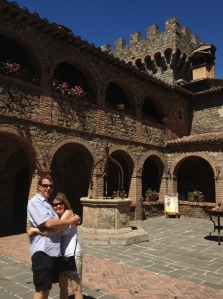 My wife Geena and I stopped for a moment to admire The Courtyard, complete with a well, before we moved upstairs to the  Il Passito Room to relax and wine taste.