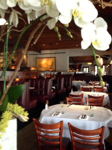 WIth large plantation windows facing the street to the right, Brannan's Grill is a comfortable, upscale spot for lunch, dinner in Calistoga.