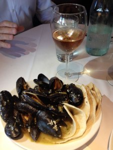 We enjoyed a bowl of mussels