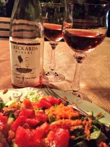 J. Rickards dry Bistro Table Rosé with smoked salmon salad. Wow! Great combo!
